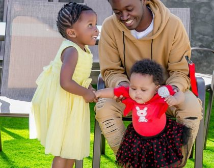 Bahati's adorable daughters finally hang out for the first time