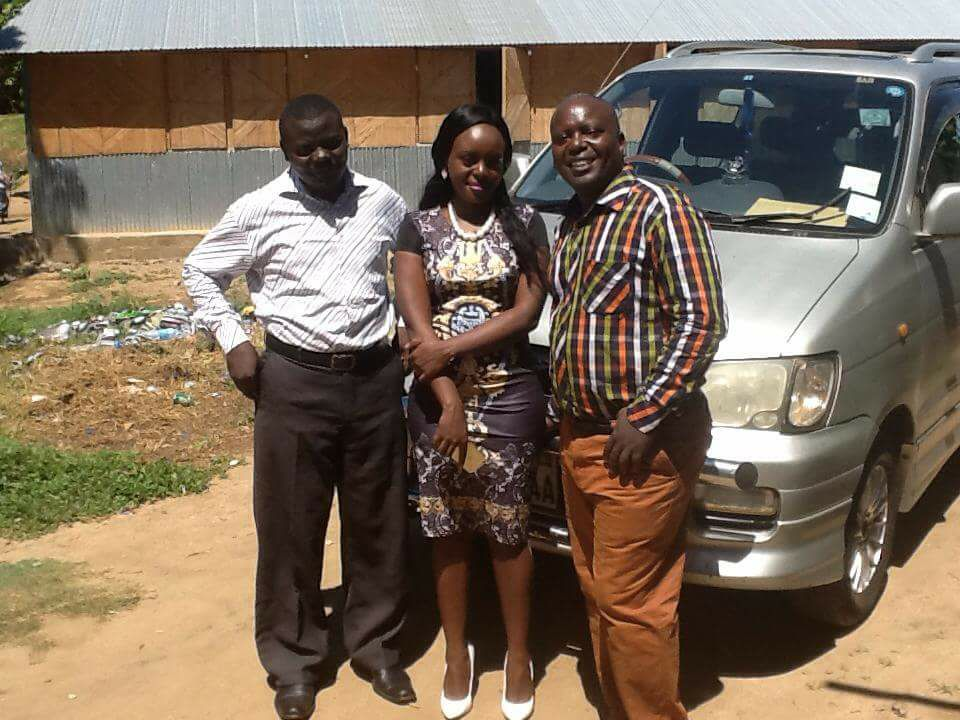 Bishop Paul Ngarama (right) with his daughter Monica Nyawira Kimani