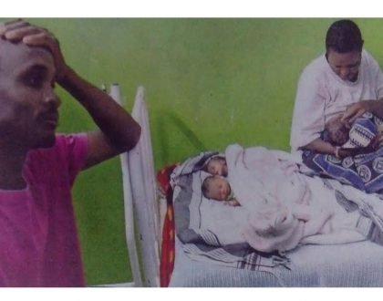 Baraka za kushtua! Meet the Narok man who collapsed after mother of his twins gave birth to triplets