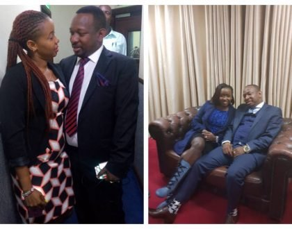 Jacque Maribe and Mike Sonko raise eyebrows as they sit dangerously close to each other (Photos)