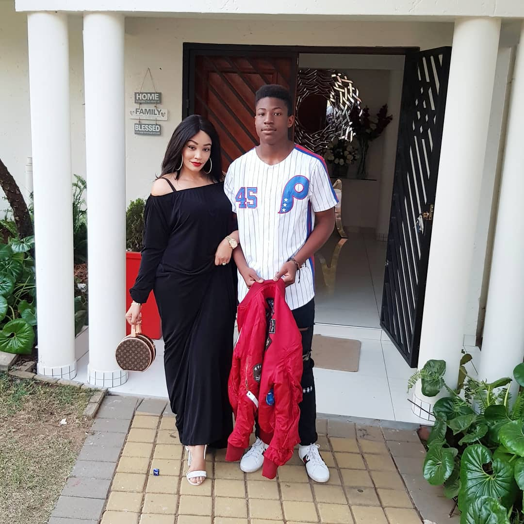 Zari with her eldest son Pinto