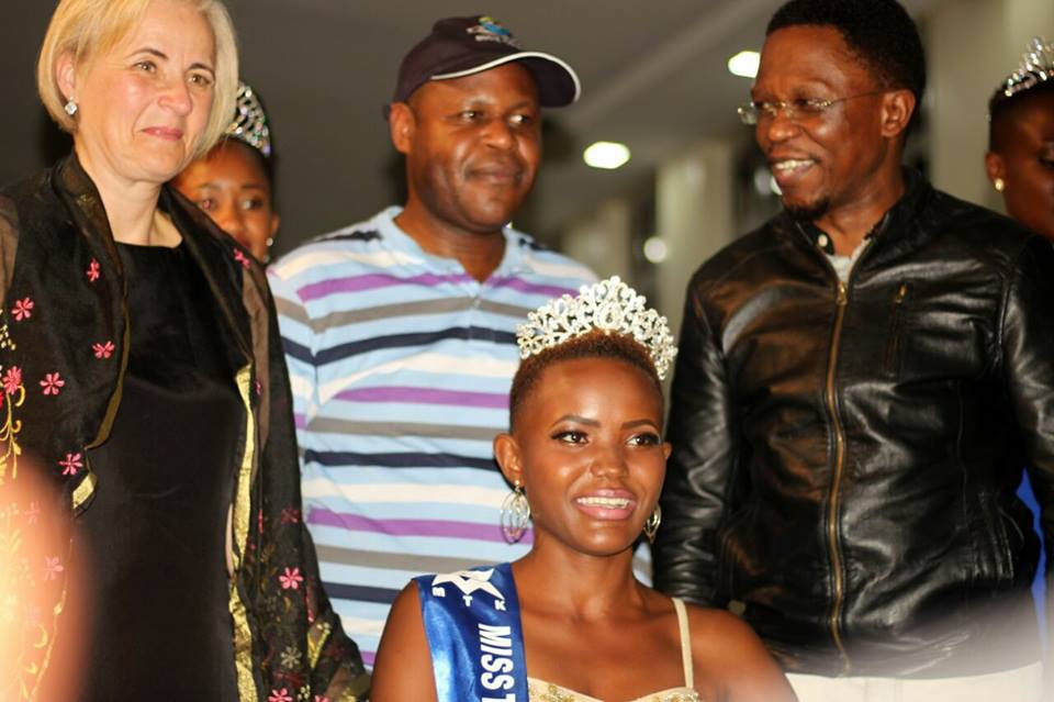 Ababu Namwamba while attending beauty pageant where Ann Paula was crowned Miss Tourism Busia
