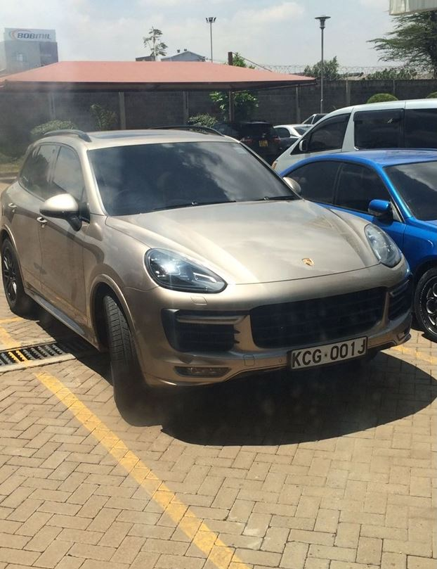 Joho's Porsche Cayenne parked at Standard Group headquarters off Mombasa Road