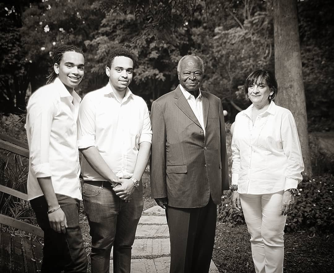 Sean Andrew with his brother, grandfather and mother
