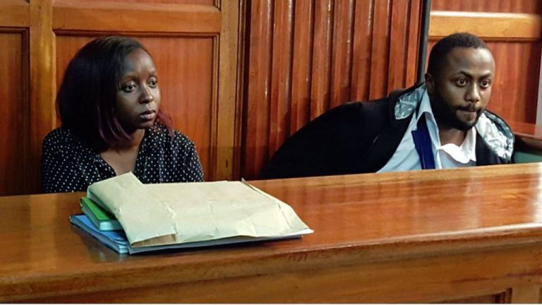 Jacque Maribe and fiance Joseph Irungu in court on Tuesday October 9th