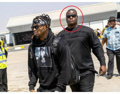 Diamond hires new terrifyingly huge bodyguard months after firing Mwarabu Fighter (Photos)
