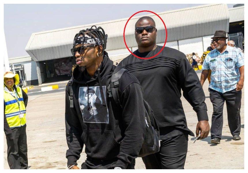 Diamond hires newterrifyingly huge bodyguard months after firing Mwarabu Fighter (Photos)