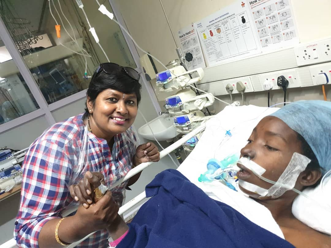 Bongo singer sent to India by Diamond on a Kes 2.2 million sponsorship successfully undergoes heart surgery (Photos)