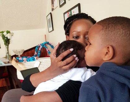 Janet Mbugua opens up about her breastfeeding experience with her new born