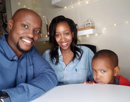 Janet Mbugua and husband celebrate their son's 3rd birthday in style (Photos)