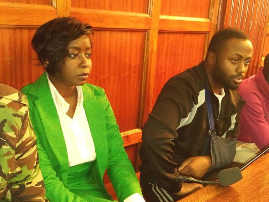Jacque Maribe looking all composed in court on Monday October 15th. Joseph Irungu is besides her
