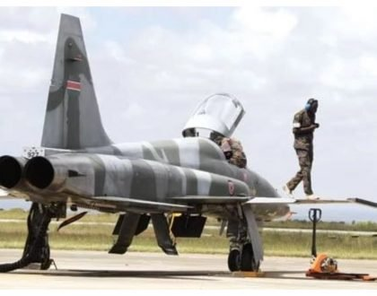 Kenya Air Force fighter jets arrive in Kisumu Airport ahead of Mashujaa Day celebration in Kakamega (Photos)