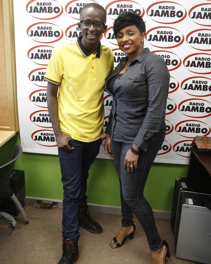 Njuguna at Radio Jambo studio