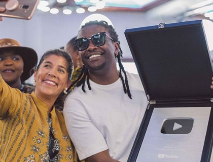 Nyashisnki, Njugush honoured by YouTube for amassing followers