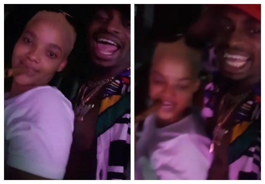 They are back together! Tunda Sebastian erotically grinds on Diamond'scrotch (Raw video)