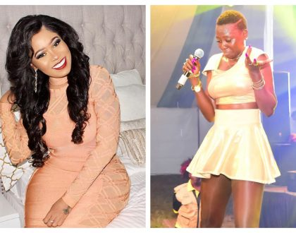 """Sijakataa mimi ni kuku kienyeji"" Akothee responds after Vera Sidika and her are compared to chickens"