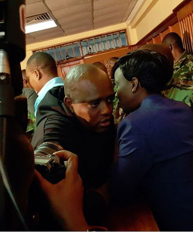 Dennis Itumbi and Jacque Maribe in court after she was granted bail