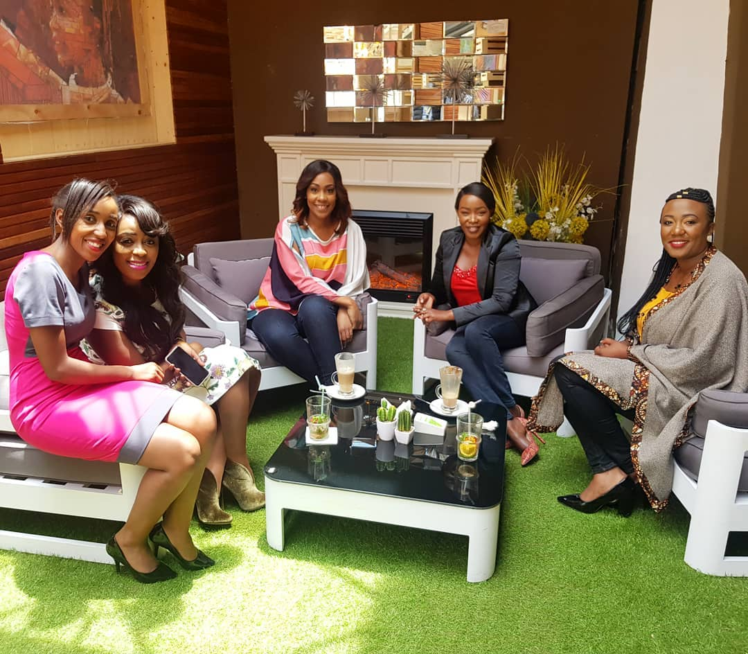 Lillian Muli, Victoria Rubadiri, Terryanne Chebet among other ladies during their discussion