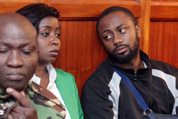 Jacque Maribe and her fiancé Joseph Irungu in court