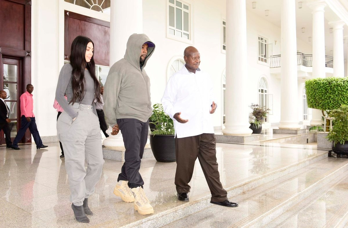 Look at the Ugandan names Museveni gave Kanye West and Kim Kardashian after visiting him