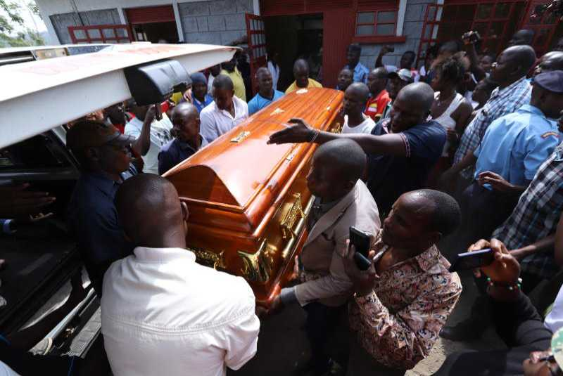 In pictures: Sharon Otieno's body leaves mortuary for her grandfather's home after husband refuses to claim her body