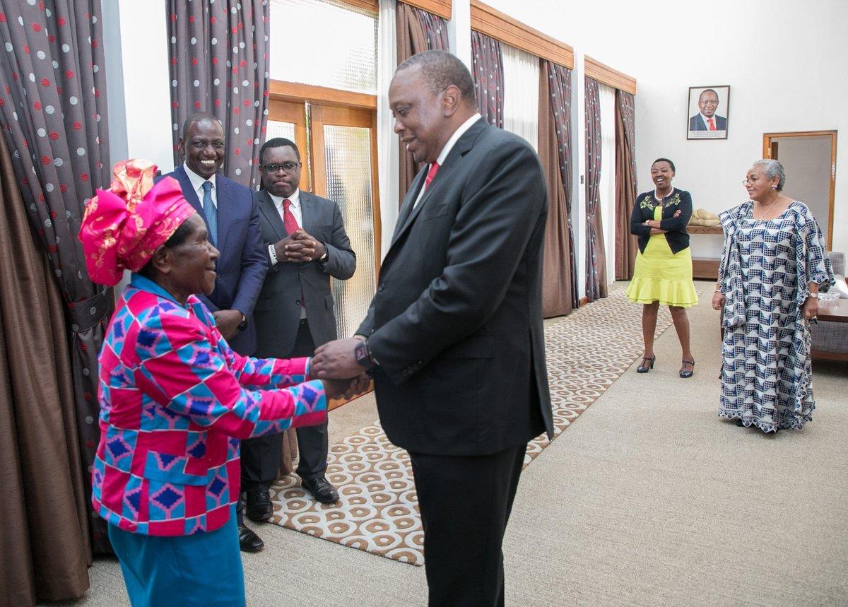 Fredah Shibonje and Uhuru Kenyatta