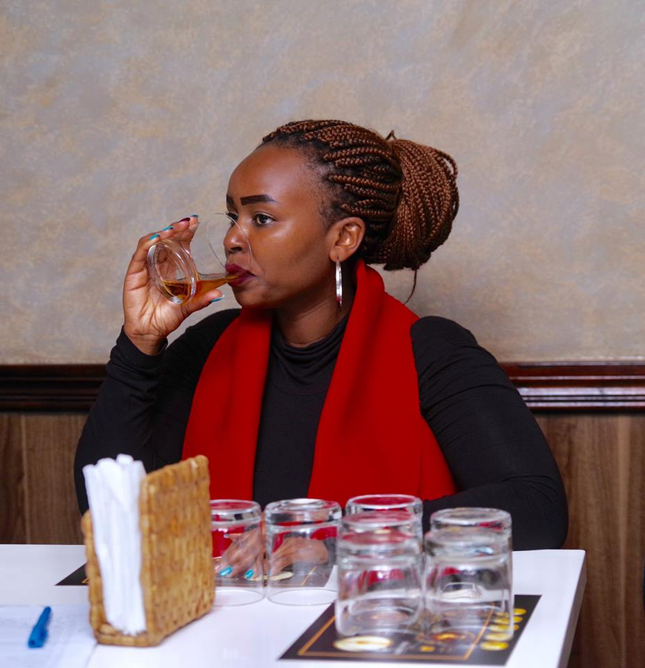 Chebet Korir at the Glenmorangie singlemalt whisky tasting