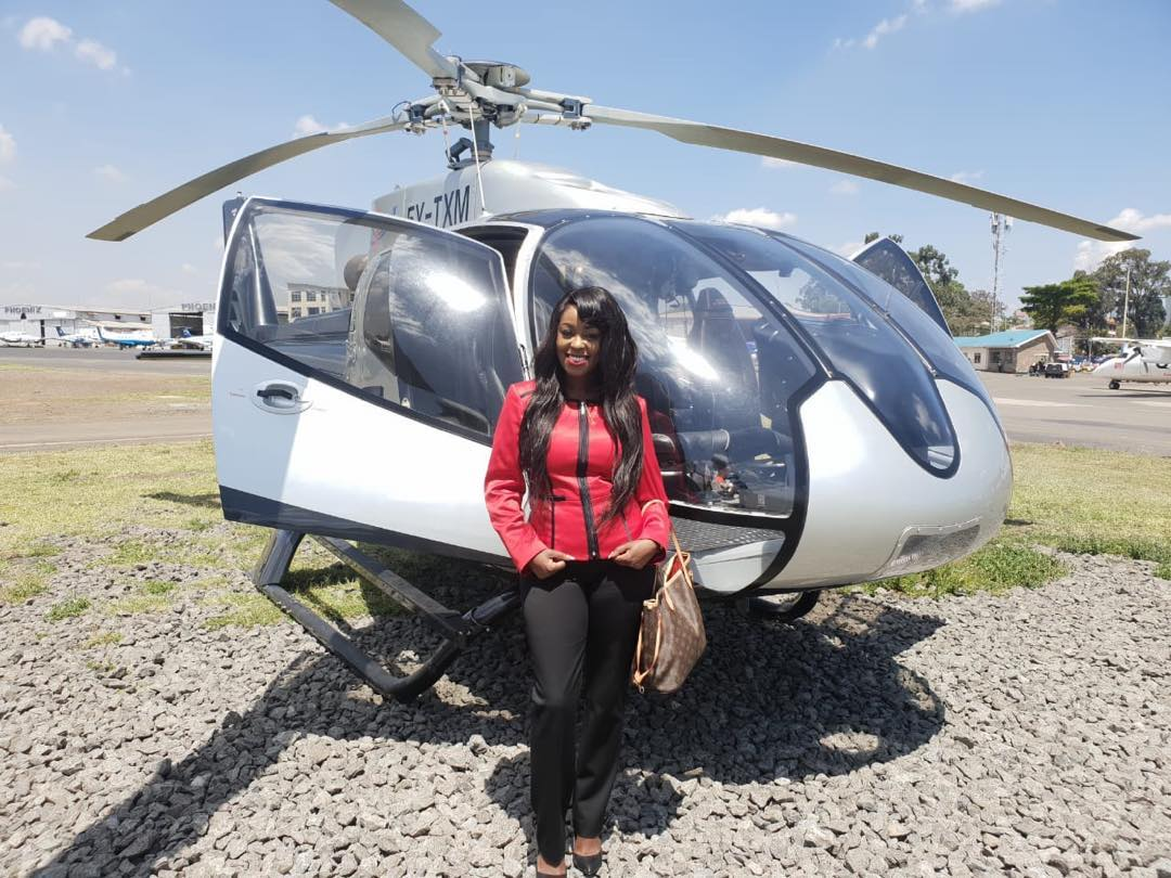 Lillian Muli at Wilson Airport before she departed for Kisii