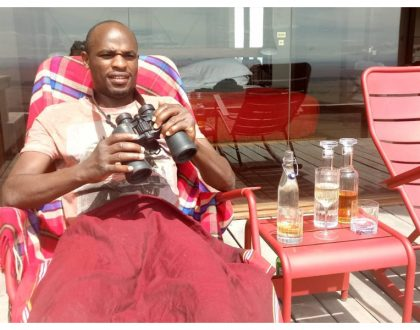 Amewin jackpot! Dennis Oliech and K24 producer enjoy baecation in Masai Mara (Photos)