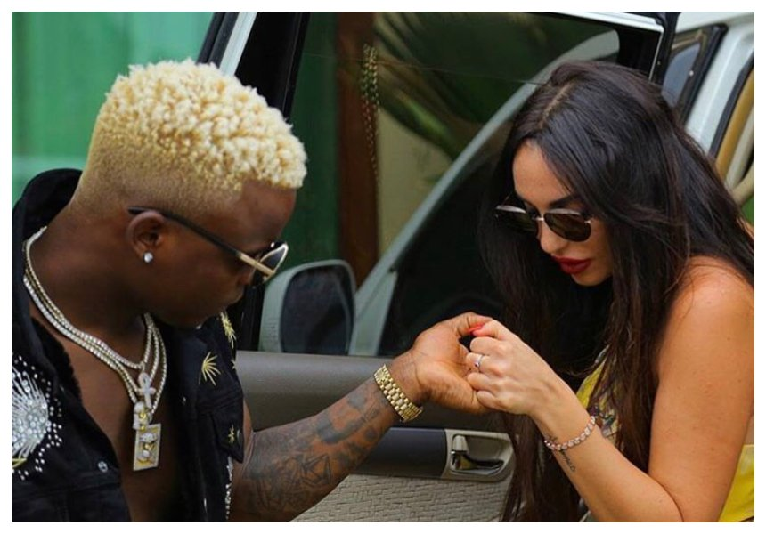 Harmonize receives congratulation messages as girlfriend Sarah parades burgeoning baby bump (Photos)
