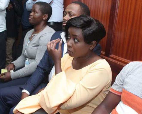 Mother's love!! Jackie Maribe's mum comforts Jowi in court after 'I'm being tortured in Kamiti' claim (photo)