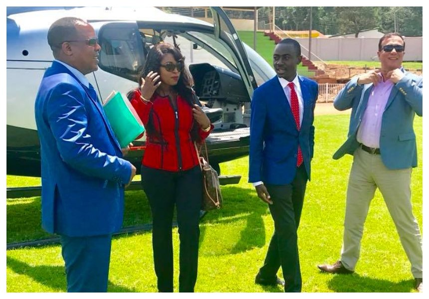 Lillian Muli and her baby daddy Jared Nevaton take chopper ride to Kisii for a business trip (Photos)