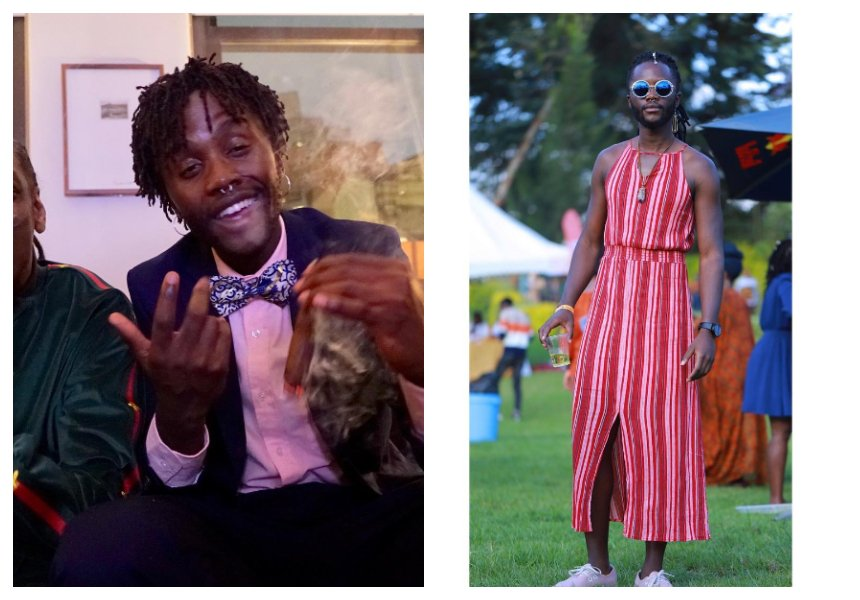 From smoking weed to nude photography, now this! Lupita Nyongo's brother wears a dress at a public function in Nairobi (Photos)