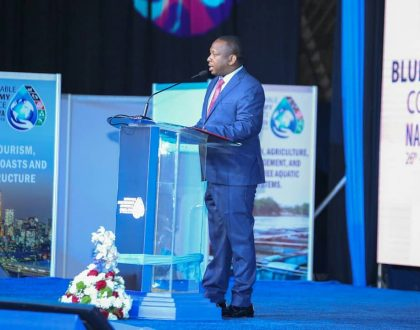 Mike Sonko finally explains why he choseto twang while delivering his speech atthe Blue Economy Conference