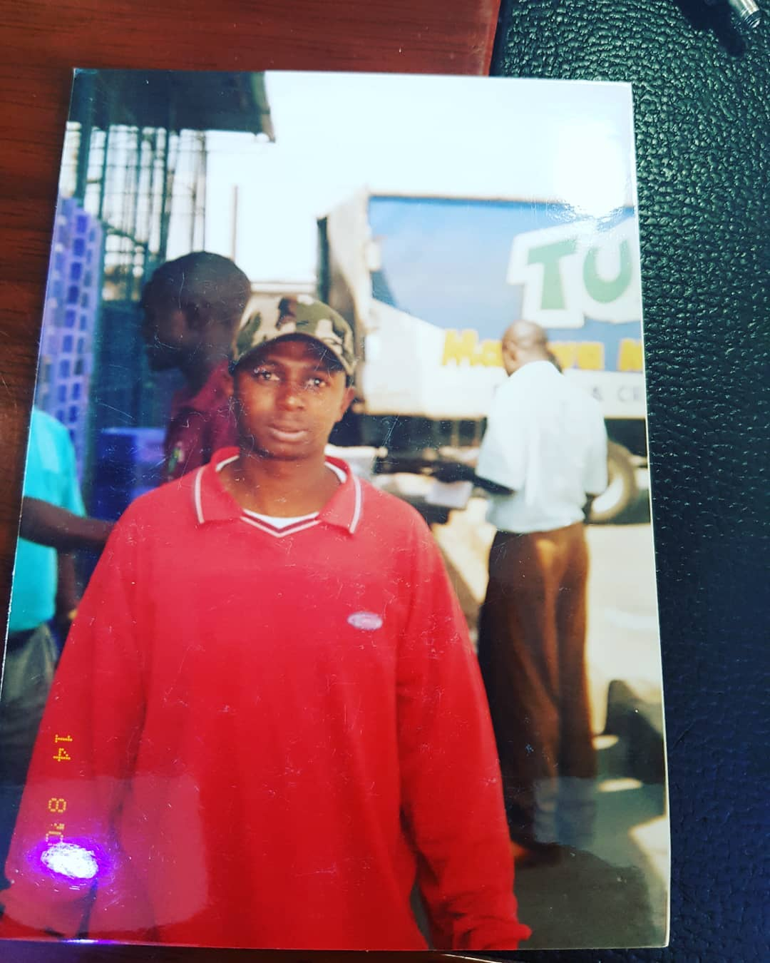 Simon Kabu while he was still loading and off-loading milk at Tuzo and Brookside companies.