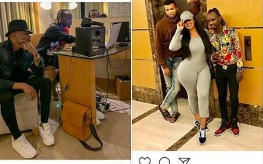 Vera Sidika and Otile Brown compete for Diamond Platnumz's producer lizer classic's attention