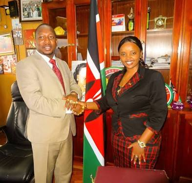 Mike Sonko and Reverend Lucy Natasha