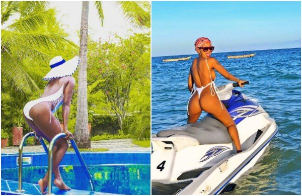 Pick your poison!! Huddah VS Akothee bikini game is nothing but goals my friend(photos)