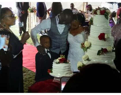 Former NTV anchorCliff Onserio finally weds after sparking public uproar with wedding fundraiser(Photos)