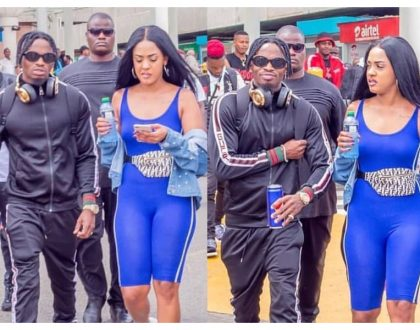 Diamond shares stage with Bahati after being spotted with his Kenyan girlfriend in public for the first time (Photos)