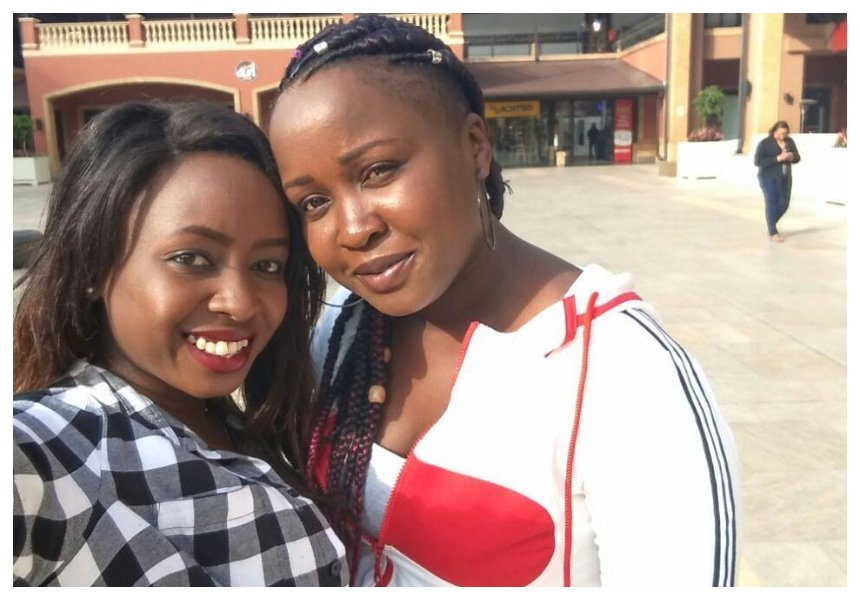 Don't mess with my family! Jacque Maribe and her elder sisterCathylene Maribe spend quality time together (Photo)