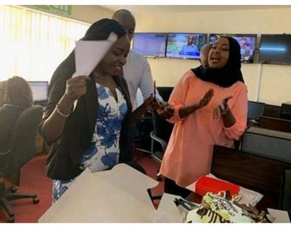 Jacque Maribe celebrates her birthday with colleagues at Citizen TV and family members (Photos)