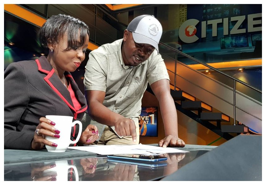Jacque Maribe at Citizen TV studio before the Monica Kimani murder case