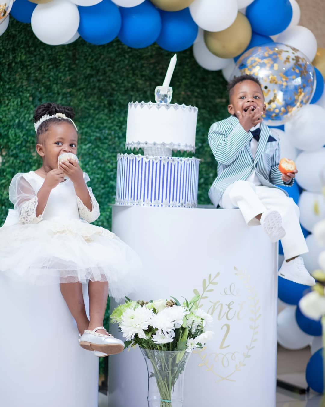 Princess Tiffah and Prince Nillan during his birthday party
