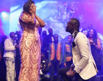 Nyakundi to King Kaka after proposing: Boy child can't kneel for a woman. You are weak