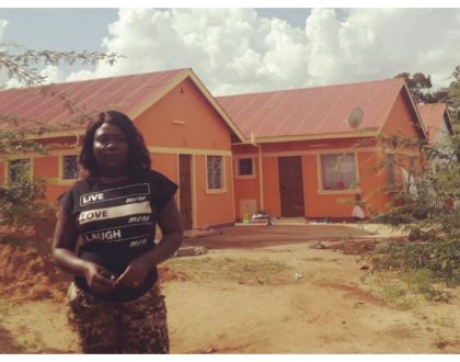 Nyota Ndogograciously thanks president Uhuru after being compensated following demolition of her3 bedroomed bungalow
