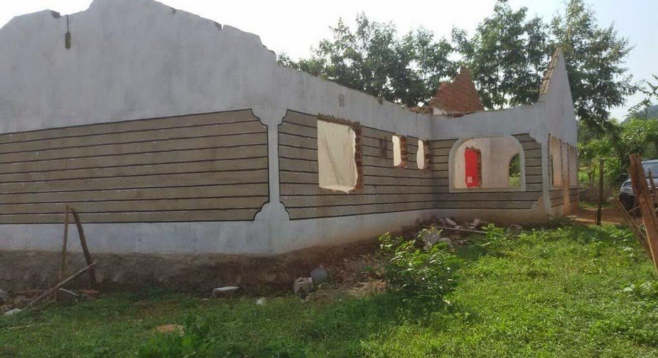 Nyota Ndogo's 3 bedroomed house that was demolished to pave ways for the construction of Standard gauge railway