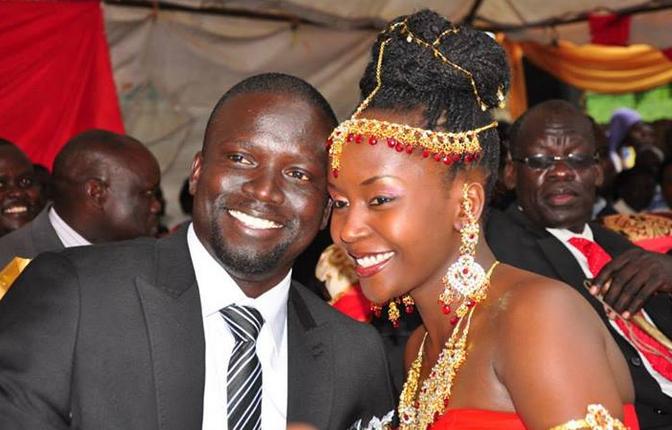 Anne Kansiime and her ex husbandGerald Ojok