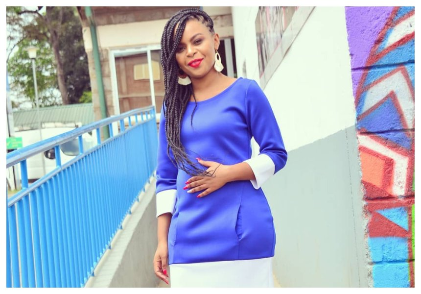 Size 8 confirms pregnancy by flaunting her burgeoning baby bump (Video)