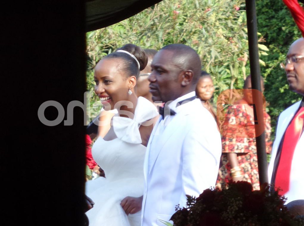 Teacher Wanjiku and Victor Ber during their wedding